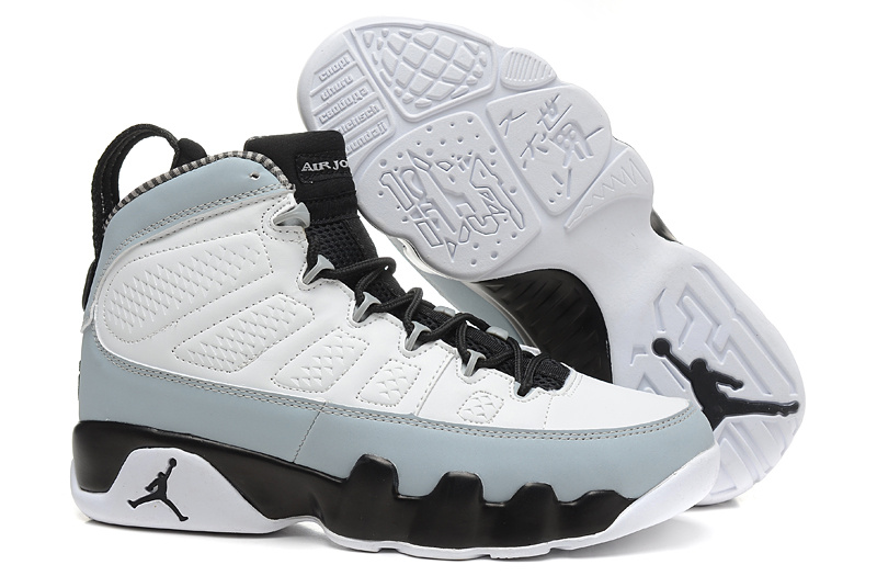 Mens & Womens (unisex) Air Jordan Retro 9 White Grey Black Review
