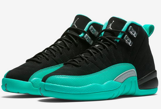 Mens & Womens (unisex) Air Jordan Taxi 12 Xii Green Black Cheap