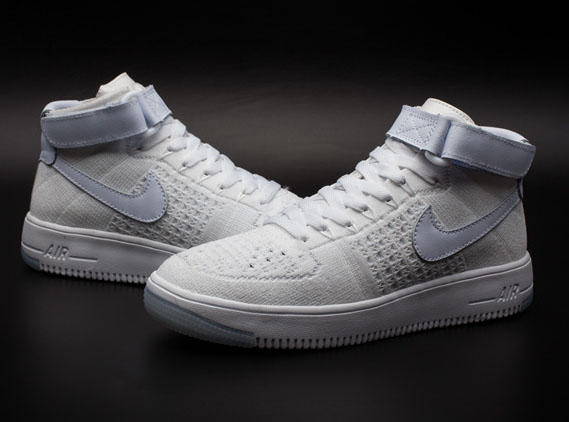 Mens & Womens (unisex) Nike Air Force 1 Flyknit High All White