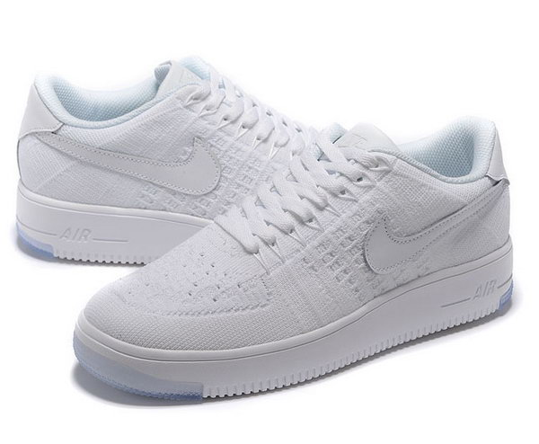 Mens & Womens (unisex) Nike Air Force 1 Flyknit Low All White France