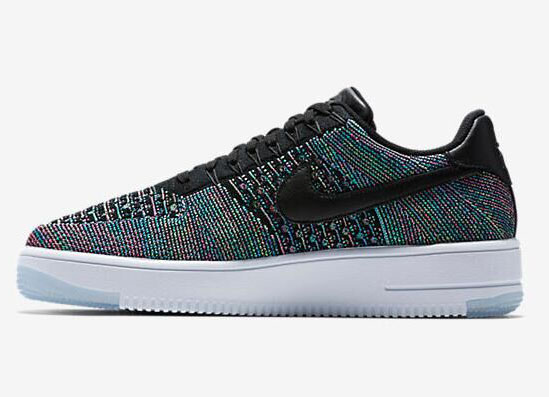 Mens & Womens (unisex) Nike Air Force 1 Flyknit Low Black Green Norway