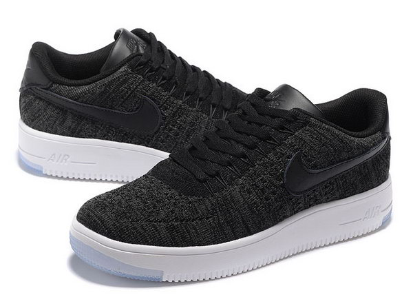 Mens & Womens (unisex) Nike Air Force 1 Flyknit Low Black White Spain