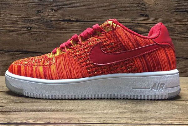 Mens & Womens (unisex) Nike Air Force 1 Flyknit Low Orange Inexpensive
