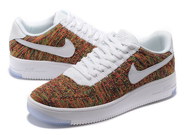 Mens & Womens (unisex) Nike Air Force 1 Flyknit Low White Colorful New Zealand