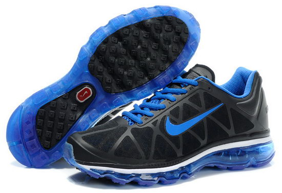 Mens & Womens (unisex) Nike Air Max 2011 Black Blue Factory Outlet