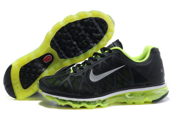 Mens & Womens (unisex) Nike Air Max 2011 Black Fluorescent Green Inexpensive