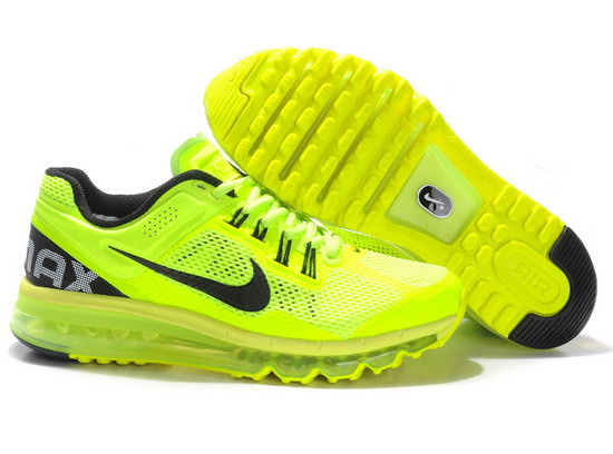 Mens & Womens (unisex) Nike Air Max 2013 Fluorescent Green Japan