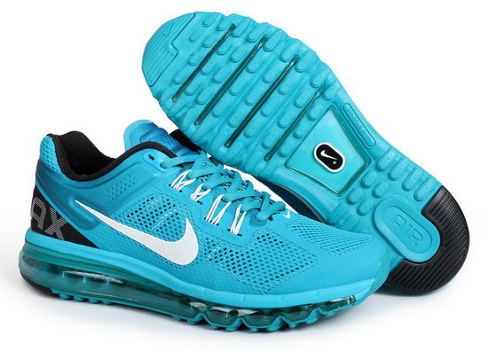 Mens & Womens (unisex) Nike Air Max 2013 Peacock Blue Promo Code
