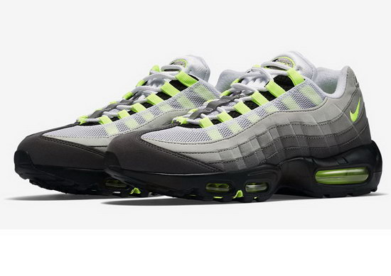 Mens & Womens (unisex) Nike Air Max 95 Grey White Green 36-45 Best Price