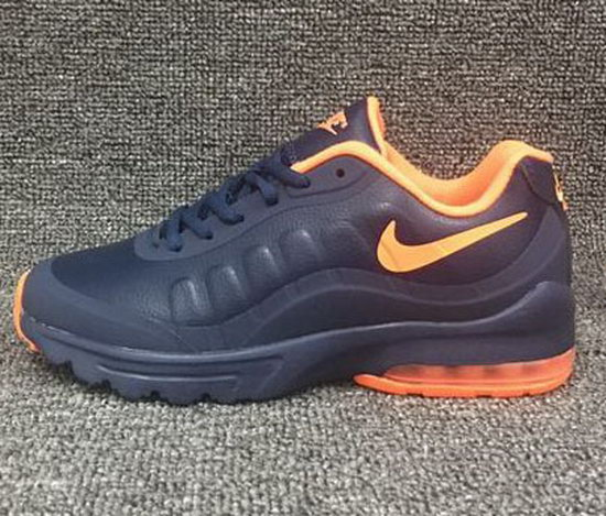 Mens & Womens (unisex) Nike Air Max 95 Leather Dark Blue Orange 36-45 Japan