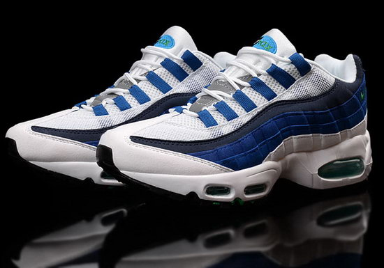 Mens & Womens (unisex) Nike Air Max 95 White Blue 36-45 Discount Code