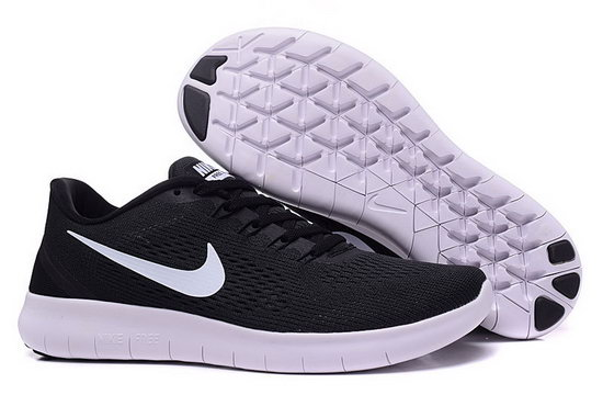 Mens & Womens (unisex) Nike Free Running Black White New Zealand