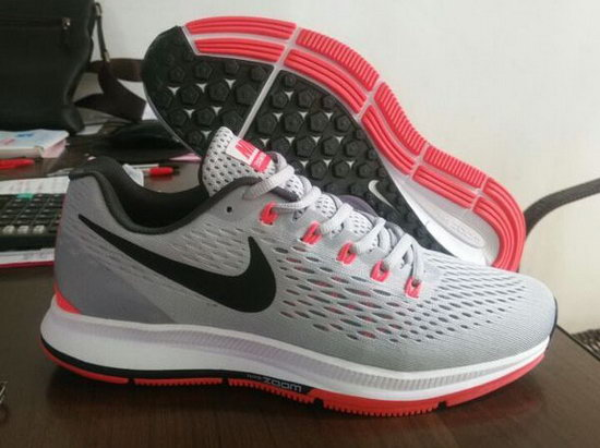 Mens & Womens (unisex) Nike Zoom Pegasus 34 Grey Red 36-45 Norway