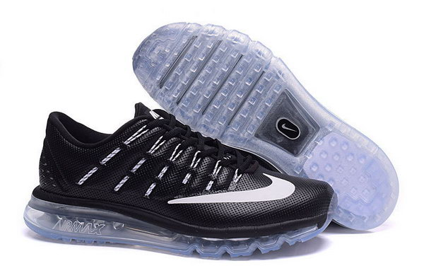 Mens Air Max 2016 Black White Denmark