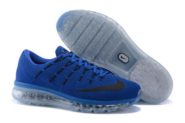 Mens Air Max 2016 Flyknit Blue Grey Black On Sale