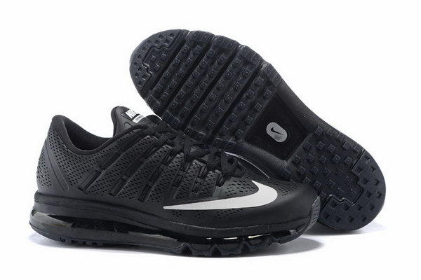 Mens Air Max 2016 Leather All Black White Inexpensive