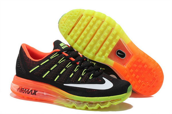 Mens Air Max 2016 Orange Black Yellow White Canada