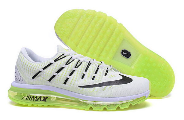 Mens Air Max 2016 White Green Black Korea