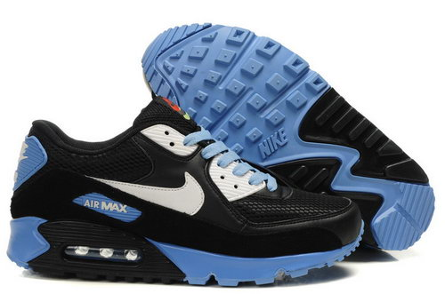 Mens Air Max 90 Black Blue White New Zealand