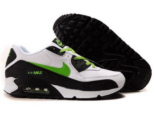 Mens Air Max 90 Black White Green Sweden