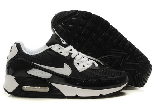 Mens Air Max 90 Black White Canada