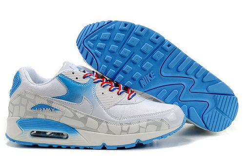 Mens Air Max 90 Blue White Grey Poland
