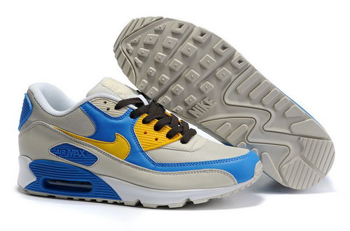 Mens Air Max 90 Blue Yellow Grey Coupon Code