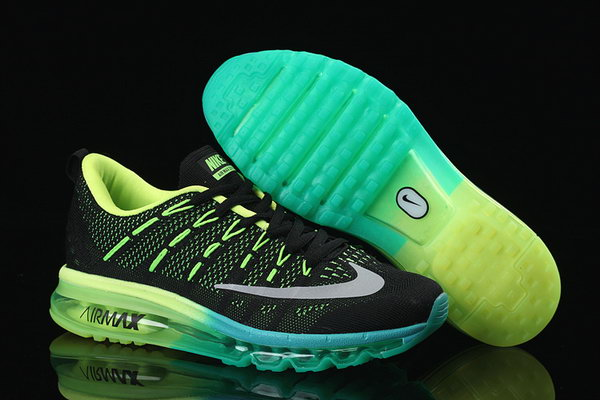 Mens Cheap Air Max 2016 Flyknit Green Black Grey Ireland
