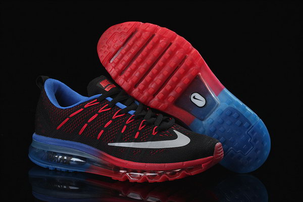 Mens Cheap Air Max 2016 Flyknit Red Black Blue Greece