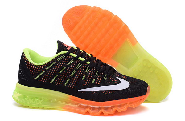 Mens Cheap Air Max 2016 Green Black Orange White France