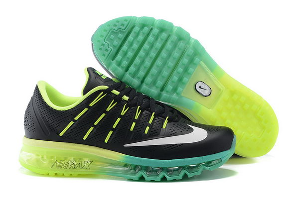 Mens Cheap Air Max 2016 Leather Green Black White New Zealand