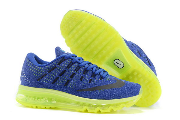 Mens Cheap Air Max 2016 Royal Blue Green Black Coupon Code