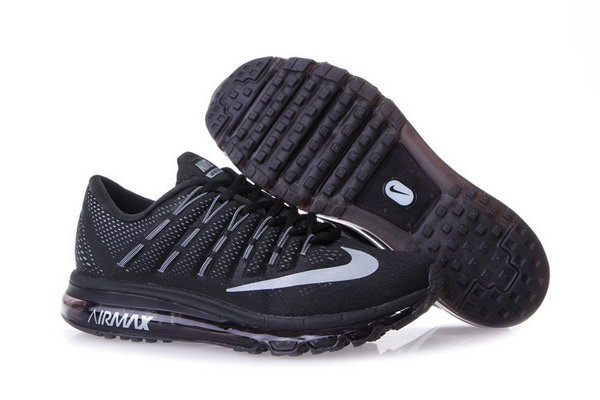 Mens Cheap Nike Air Max 2016 Black Grey Outlet Store