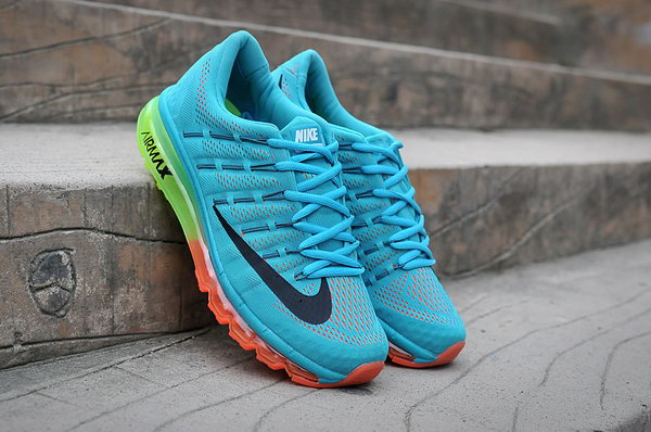 Mens Cheap Nike Air Max 2016 Blue Black Green Orange Japan