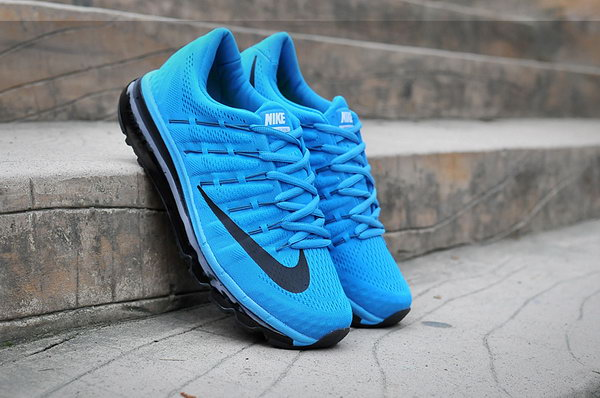 Mens Cheap Nike Air Max 2016 Blue Black White Usa