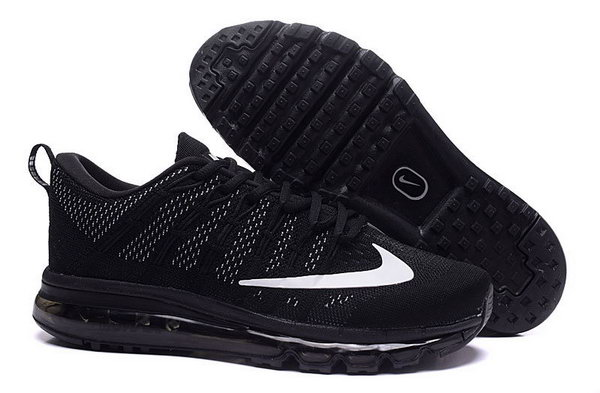 Mens Flyknit Air Max 2016 All Black White Czech