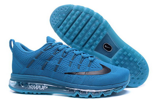 Mens Flyknit Air Max 2016 All Royal Blue Black Low Cost