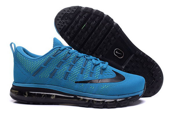 Mens Flyknit Air Max 2016 Black All Blue Cheap