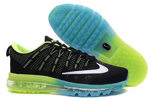 Mens Flyknit Air Max 2016 Black Green Blue Best Price
