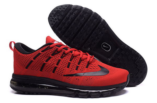 Mens Flyknit Air Max 2016 Fire Red Black Reduced