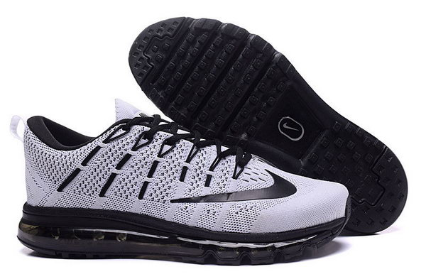 Mens Flyknit Air Max 2016 Grey Black Online