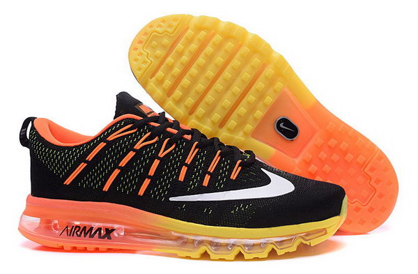 Mens Flyknit Air Max 2016 Yellow Orange Black France