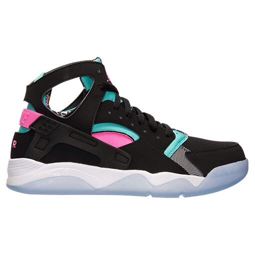 Mens Nike Air Flight Huarache High Black Green Pink 40-45 Inexpensive