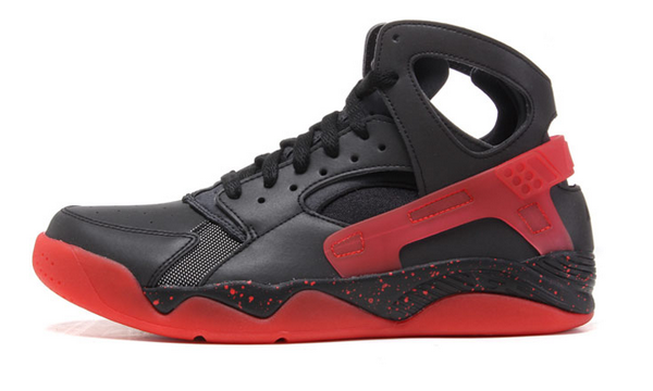 Mens Nike Air Flight Huarache High Black Red 40-45 New Zealand