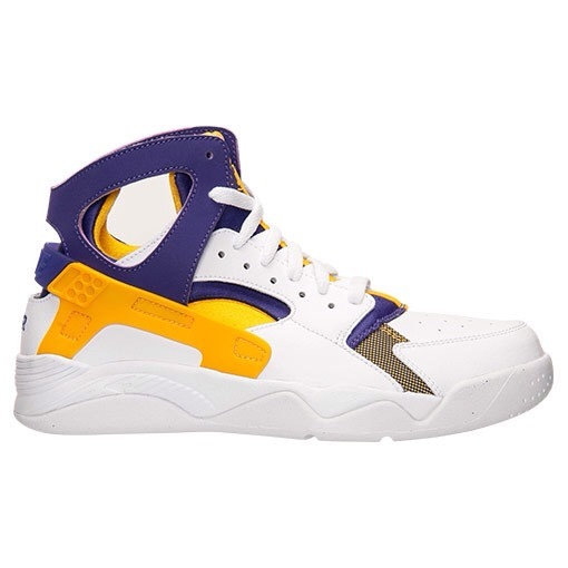 Mens Nike Air Flight Huarache High White Yellow Purple 40-45 Sweden
