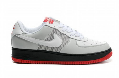 Mens Nike Air Force 1 07 Perf Neutral Grey Black Red Australia