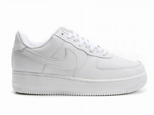 Mens Nike Air Force 1 07 Perf Pack All White Clearance