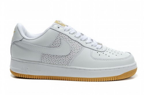 Mens Nike Air Force 1 07 Perf White Gum Korea