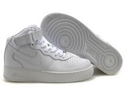 Mens Nike Air Force 1 25th High Shoes All White Online Shop