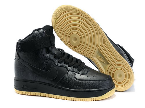 Mens Nike Air Force 1 25th High Shoes Black Brown Germany